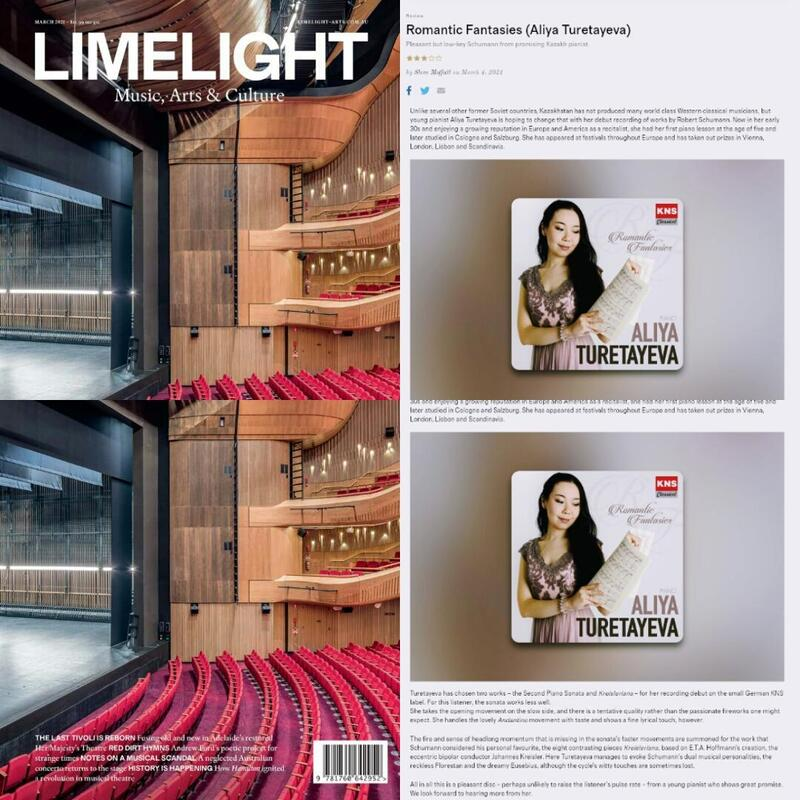 Limelight Magazine, Sidney, Australia; March Edition 2021